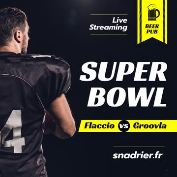 Super Bowl Match Streaming Player in Uniform