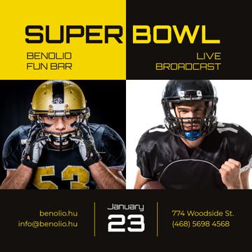 Super Bowl Match Announcement Players in Uniform