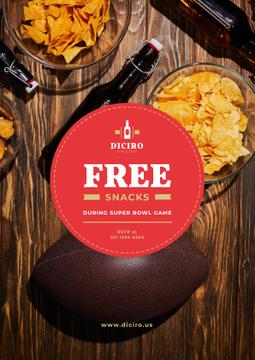 Super Bowl Offer with Beer and Snacks
