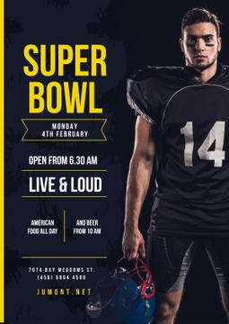 Super Bowl Match Offer with Player in Uniform