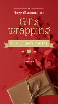 Valentine's Day Gift Wrapping in Red