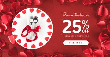 Valentine's Day Dinner Cutlery in Red