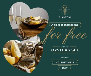 Valentine's Day Restaurant Offer with Oysters