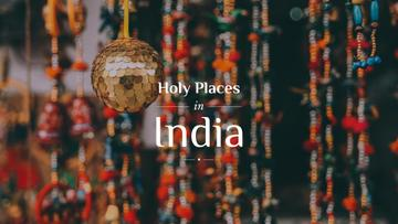 Asia Traveling Guide with Traditional India Decorations