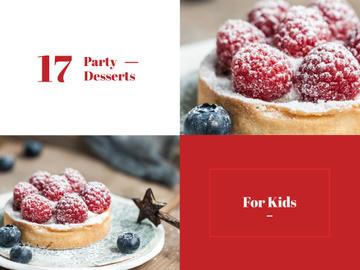 Kids Party Desserts Sweet Raspberry Tart