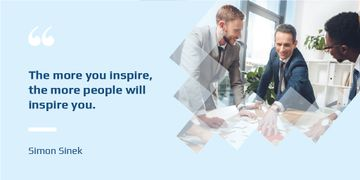 Business Quote with Colleagues Working in Office
