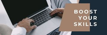 Productivity Tips with Hands Typing on Laptop