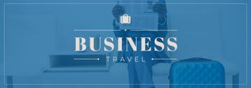 Businessman with Travelling Suitcase