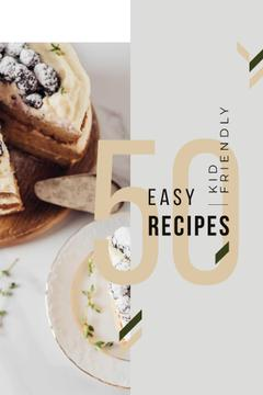 Bakery Recipes with Sweet Cake with Berries