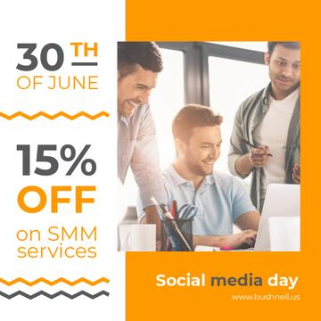 Social Media Day Offer Team Working by Laptop