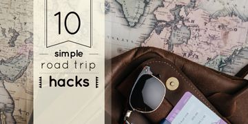 Travel Tips with Vintage Map and Bag