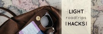 Travel Tips Vintage Map and Bag