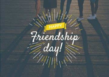 Friendship Day Greeting Young People Together