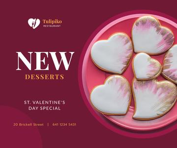Valentine's Day Heart-Shaped Cookies