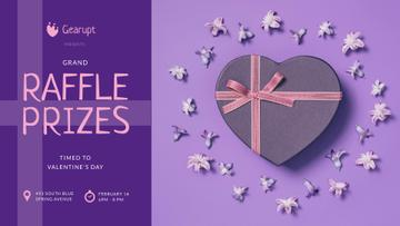 Valentine's Day Heart-Shaped Gift in Purple