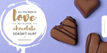 Valentine's Day with Heart-Shaped Chocolate Candy