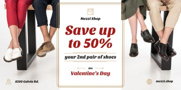 Valentine's Day Sale with People at Shoes Shop