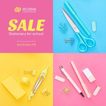 Sale Announcement School Stationery in Color