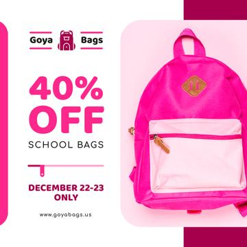 School Bags Offer Pink Backpack