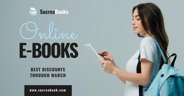 Online E-books Store Ad Girl Reading