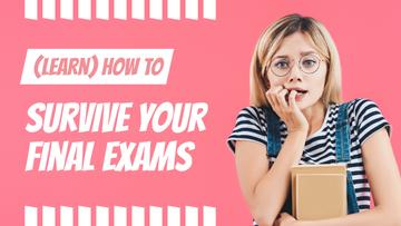 Exams Tips Nervous Girl with Books