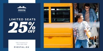 School Promotion with Kids by Yellow Bus