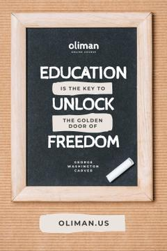 Education Quote on Chalkboard