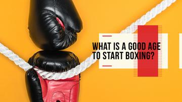 Boxing Guide Gloves in Red
