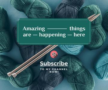 Knitting Lessons wool Yarn in Blue