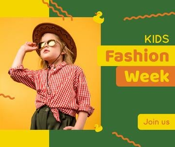 Kids Fashion Week Stylish Child Girl