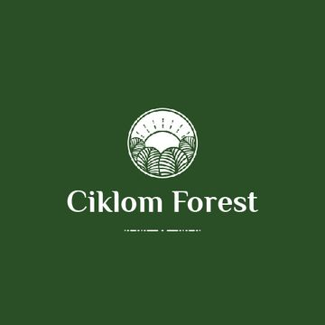 Trees in Forest with Green Icon
