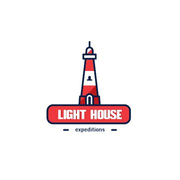 Travel Expeditions Offer with Lighthouse in Red