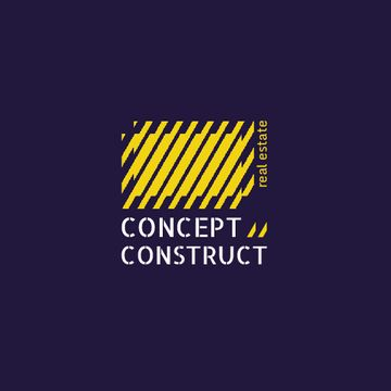 Construction Company Ad with Yellow Lines Texture