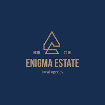 Real Estate Agency Ad Building Icon in Blue