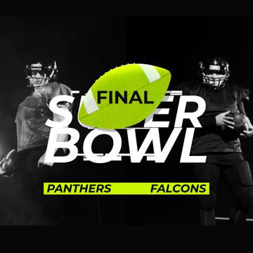 Super Bowl Match Announcement with Players in Uniform