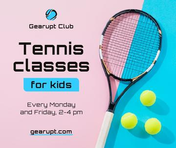 Sports Classes for Kids Tennis racket on court