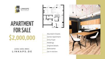 Real Estate Ad Stylish Room Interior