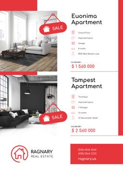 Real Estate Ad with Elegant Room Interior