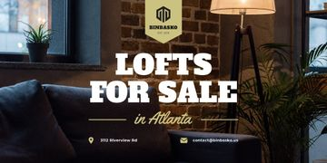 Real Estate Ad with Modern Loft Interior