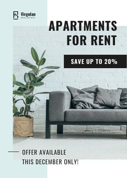 Real Estate Rent Offer Sofa in Room