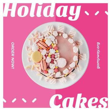 Bakery Promotion Sweet Pink Cake