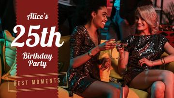 Birthday Party Girls in Shiny Dresses