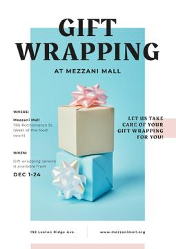 Gift Wrap Offer with Present Boxes with Bows