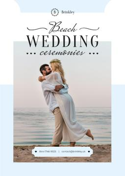 Wedding Ceremonies Organization with Newlyweds at the Beach