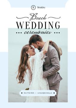 Wedding Ceremonies Organization with Newlyweds at the Beach