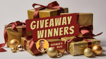 Blog Giveaway Promotion Presents in Golden