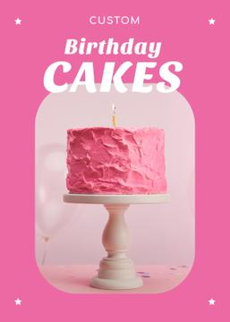 Birthday Offer Pink Sweet Cake