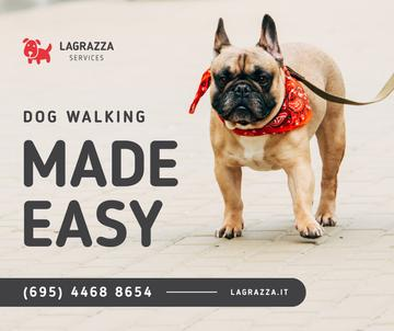 Dog Walking Services French Bulldog on street