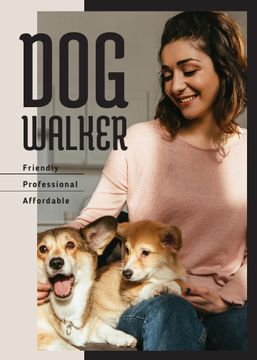 Dog Walking Services Woman with Puppies