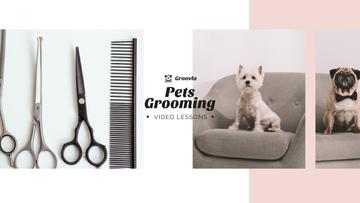 Pets Grooming Guide with Cute Dogs